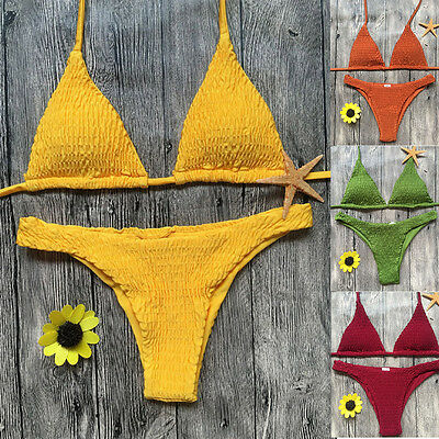 Push-up Padded Bra Bikini Set Triangle Swimwear Bathing Women Bandage Swimsuit