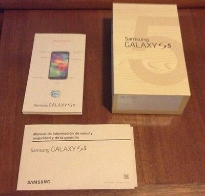 Samsung Galaxy S 5 Empty Box With Instruction Manual And Paperwork Lot NO PHONE