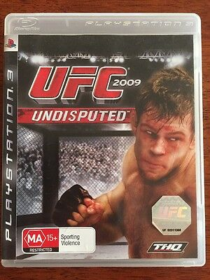 UFC 2009 Undisputed Complete PS3 Sony PlayStation 3