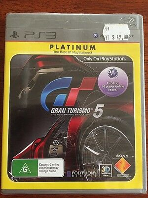 Gran Turismo 5 New Sealed PS3 Sony PlayStation 3