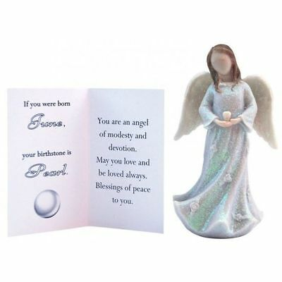Birthstone Angel - June Modesty & Devotion White with White Stone