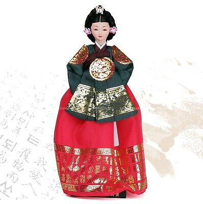 "13"" Korean Beauty Barbie Doll Hanbok Traditional Charming Elegant Queen Handmade"