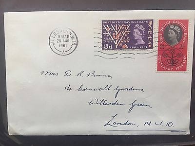 Gb 2 X  First Day Covers Of Post Office Savings Bank Centenary 1961