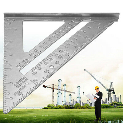 "Quick Roofing Rafter Triangle Ruler Guide7""Aluminum Alloy Speed Square ZP9"