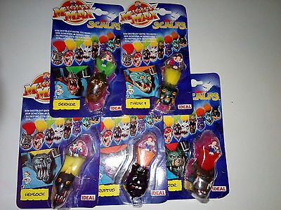 Mighty Max 5 Horror heads/Scalps bnib