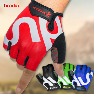 New Mens Outdoor Bike Bicycle Cycling Riding Half Finger Gloves Shock-absorbing