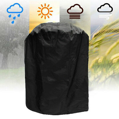Round Large Waterproof Outdoor Garden Kettle Barbecue/BBQ Chimney Grill UV Cover