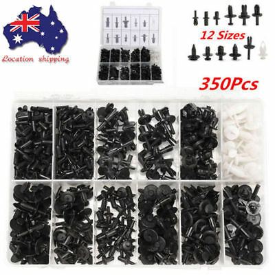350Pcs Auto Car Body Plastic Push Pin Rivet Fasteners Trim Panel Moulding Clip