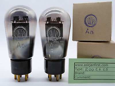 Matched pair of Valvo Aa Globe DHT tubes directly heated driver RE604,AD1,EbIII