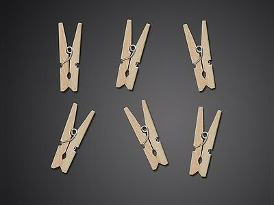 Mollette Mini Legno Naturale 20pz