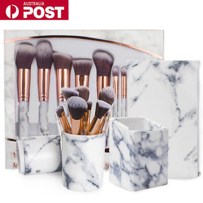 10pcs Makeup Brush Set Foundation Eyeshadow Eyeliner Lip Brushes Set Kit Tool AU