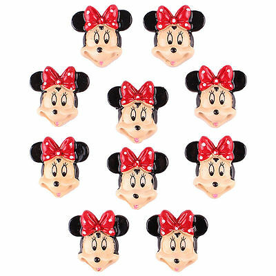 Lot 10pcs Resin Minnie Flatback Scrapbooking Hair Bow Center Crafts Making