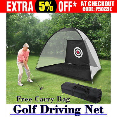 Portable Golf Training Net Tent Practice Driving Chipping Soccer Cricket