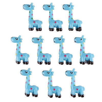 10pcs Cute Blue giraffe Flatback Resin Scrapbooking Crafts Hair Bow Craft Diy