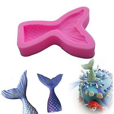 3D DIY Cake Silicone Mold Cutting Dies Fondant Mould Baking Tool Mermaid Tail LH