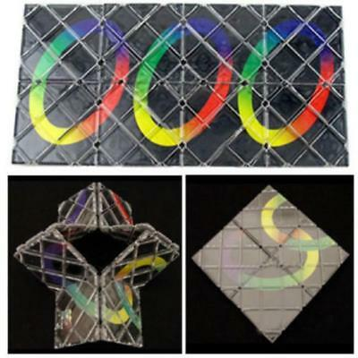 Red Mini Magic Rubik's Cube 8 Tile Panel Folding Puzzle Toy Ghost Hand Child LH