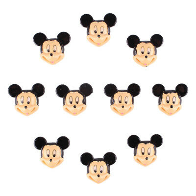 Bulk 10 pcs Mickey Flatback Resin Scrapbooking DIY Crafts Cabachons Hair Bow