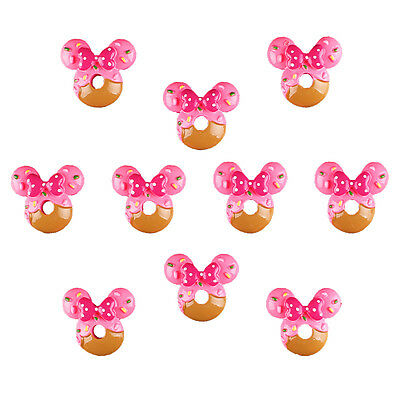 Lot 10pcs Minnie Bead Resin Flatback Scrapbooking Hair Bow Craft Making