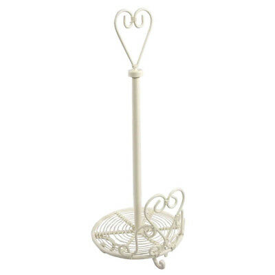 Ornate Rustic French Country Cream Shabby Chic Love Scroll Kitchen Roll Holder