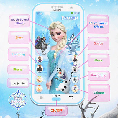 Toy Mobile phone Disney Frozen Smartphone Learning device Music Song for Kids -