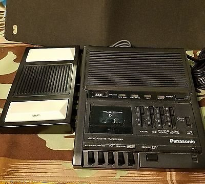Vtg Panasonic Microcassette Transcriber RR-930 & Pedal RP-2692- AS IS FOR PARTS