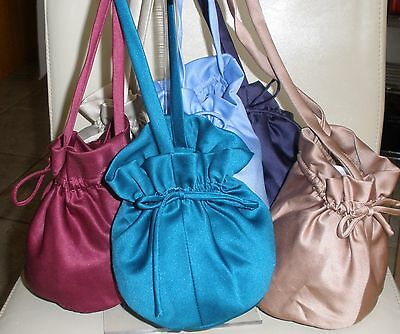 Satin Dolly Bags various colours