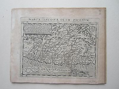 ITALY Ancona Magini Ptolemy 1617 orig. antique map