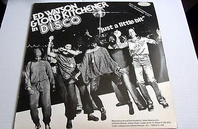 """Ed Watson & Lord Kitchener Just A Little Bit  Reggare Disco 12"""" Picture Cover"""
