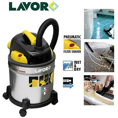 Lavor Vac 20S Canister Industrial Wet And Dry Vacuum Cleaner With Blow Function