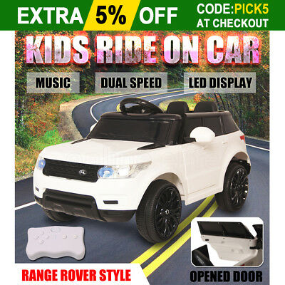 Electric Kids Ride On Car Range Rover Style Children Dual Speed Remote Battery