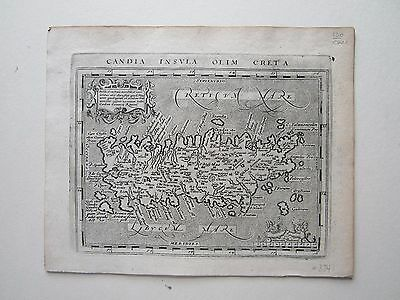 GREECE Crete Candia Magini Ptolemy 1617 orig. antique map