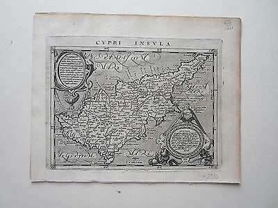 CYPRUS Magini Ptolemy 1617 orig. antique map