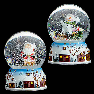 Premier 100mm Musical Christmas Snow Globe - Santa or Snowman