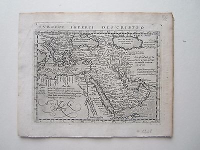 MIDDLE EAST ARABIA Magini Ptolemy 1617 orig. antique map