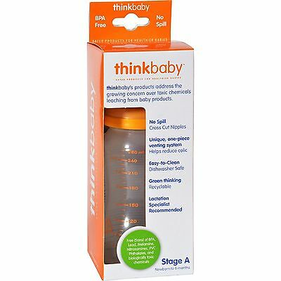 Thinkbaby Stage A Newborn to 6 Months BPA Free No Spill Bottle - 9 oz