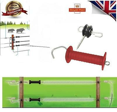 2 x Electric Fence Heavy Duty Gate Handle and 4 x Gate Anchor Insulator BARGAIN