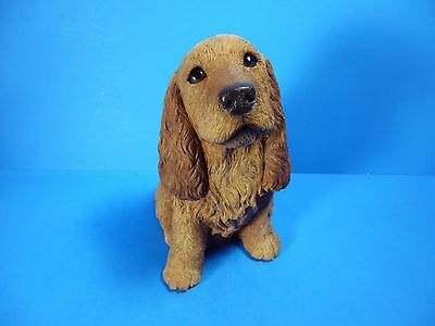 """LIVING STONE HANDCRAFTED COCKER SPANIEL SCULPTURE,SIGNED BY ARTIS 8.5""""T x 6""""W"""