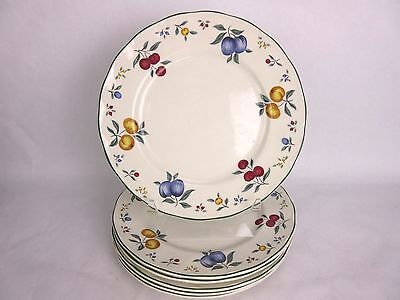 "Set of 6 Grindley English China ""Provence"" Dinner Plates 10 1/2"""