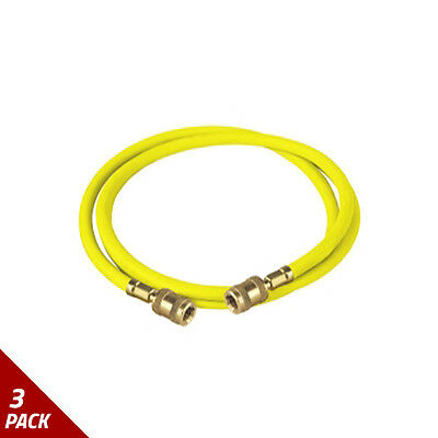 """Robinair R134A Replacement Hose, Yellow, 72"""" [3 Pack]"""
