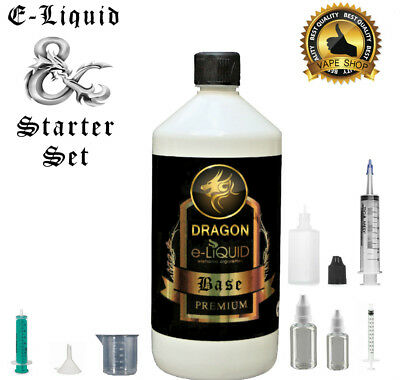 E Liquid Base 50/50 0mg 3mg 6mg Nikotin Eliquid Basis 1Liter 1000ml Starter Set