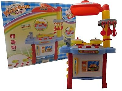 Children Kids Toy Kitchen Cooking Role Play Pretend Toy Cooker Oven Set