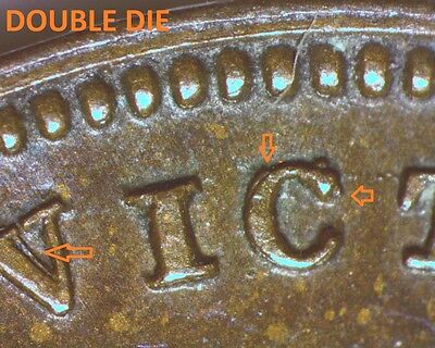 1844 Great Britain 1/2 Farthing Double Die/repunched Letters Error 1562