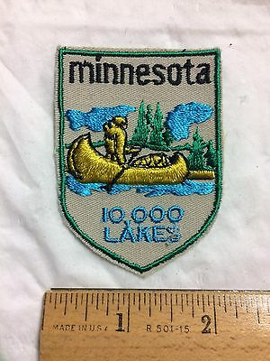 Minnesota 10,000 Lakes Canoe Forest Souvenir MN State Patch Badge