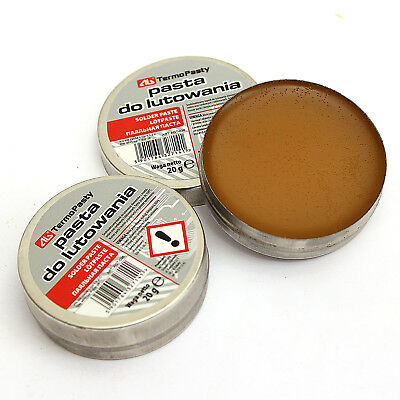 2 x 20g flux soldering paste in the 20g tin for electronics SMD plumbing DIY etc