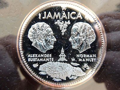 1972 Jamaica Ten ($10) Dollar Silver Commemorative Proof Edition Coin