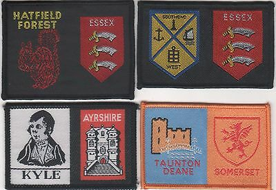 Scout Badge. 4 Different British District/County Badges  . A . See Scan