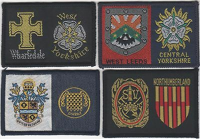 Scout Badge. 4 Different British District/County Badges  . B . See Scan