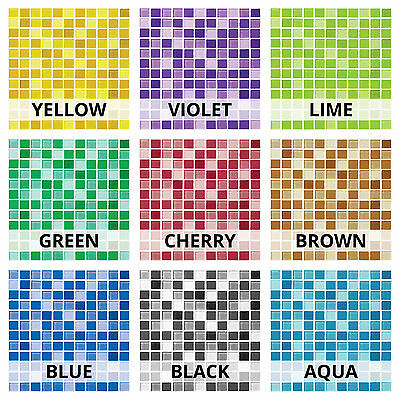 Glass Mosaic Tile Sticker Transfer Decal For Kitchen Bathroom DIY - GM1