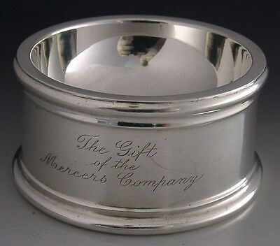 HUGE COMPANY of MERCERS STERLING SILVER TRENCHER TABLE SALT CELLAR 1934 161g