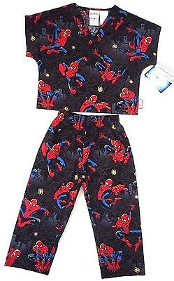 Tooniforms Youth's V-Neck Pajama Top and Pant Scrub Set Size Small NWT